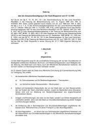 Satzung über die Abwasserbeseitigung in der Stadt Wuppertal vom ...