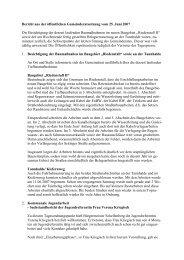 Bericht aus der öffentlichen Gemeinderatssitzung vom ... - Wurmlingen