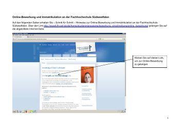 pdf online bewerbung und immatrikulation an der fh sdwestfalen - Online Bewerbung Pdf
