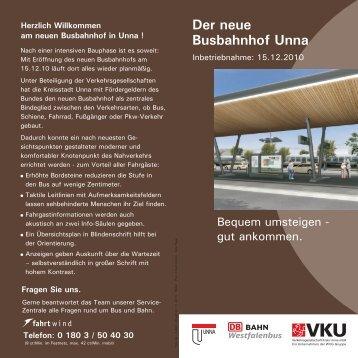 Der neue Busbahnhof Unna - WVG