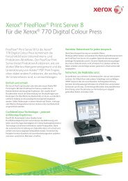 FreeFlow™ Print Server for the Xerox 770