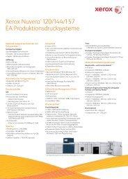 Specifications - Xerox Nuvera 1XX EA Series