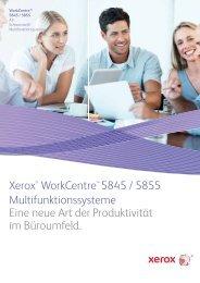 Xerox WorkCentre 5845 / 5855 Broschüre  - Schwarz-Weiß ...