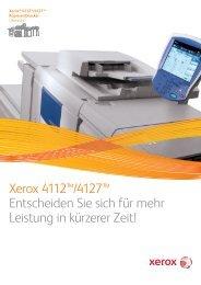 Broschüre - Xerox 4112