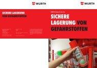 Lagerung von Gefahrstoffen - Würth Industrie Service GmbH & Co. KG
