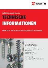 Schrauben für thermoplastische Kunststoffe - Würth Industrie ...