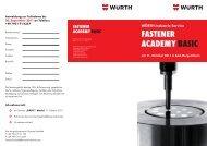 fastener academy basic - Würth Industrie Service GmbH & Co. KG