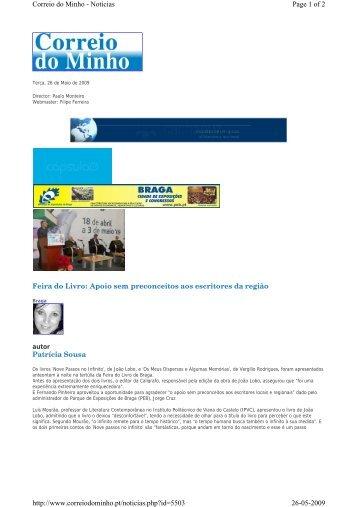 Feira do Livro: Apoio sem preconceitos aos escritores da ... - IPVC