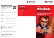 FACHSEMINAR - Würth Industrie Service GmbH & Co. KG