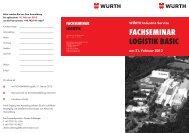 fachseminar logistik basic - Würth Industrie Service GmbH & Co. KG