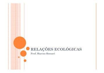 RELAÇÕES ECOLÓGICAS - INSP1