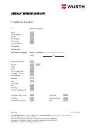 Zur Bewerbung als Lieferant der Würth Industrie Service