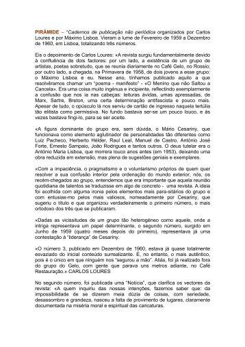 PIRÂMIDE - Hemeroteca Digital - Câmara Municipal de Lisboa