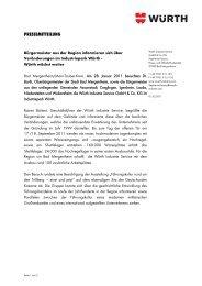 Bürgermeister aus der Region informieren sich - Würth Industrie ...