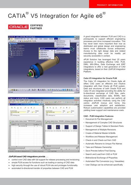 CATIA V5 Integration for Agile e6 - xPLM Solution GmbH