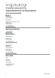 Seite als PDF downloaden - WÜRZBURGER medienakademie