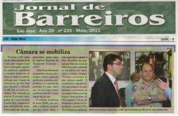 Clipagem - De 16 a 22 de Maio de - Câmara Municipal de São José