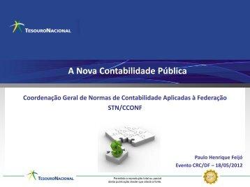 A Nova Contabilidade Pública - CRC-DF