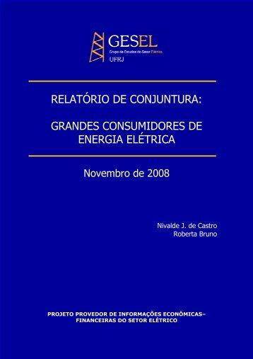 grandes consumidores de energia elétrica - Nuca - UFRJ