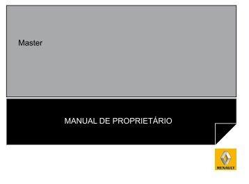 Master MANUAL DE PROPRIETÁRIO - Renault do Brasil