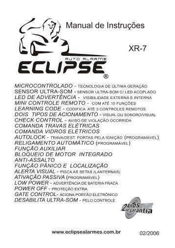 Manual de Instruções - Eclipse Alarmes