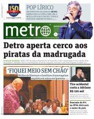 POP LÍRICO 'FIQUEI MEIO SEM CHÃO' - Metro