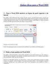 Quinze dicas para o Word 2010 1 - Ceavi