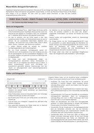 W&W Strat. Fonds - W&W Protekt 100 Europa (2018) (ISIN ...