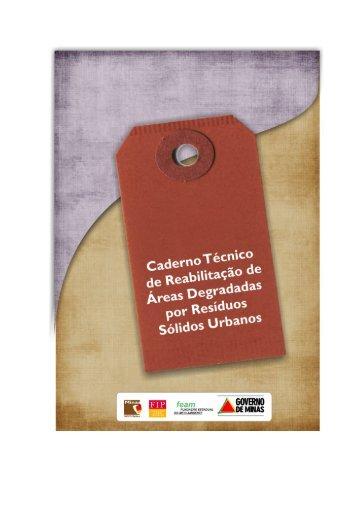 Caderno Técnico de reabilitação de áreas degradadas por