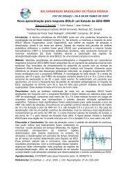 Nova aproximação para resposta BOLD: um Estudo de EEG-fMRI