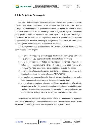 II.7.6 - Projeto de Desativação.pdf - Ibama