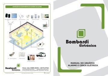 manual do usuário alarme e cerca elétrica - Bombardi Eletrônica