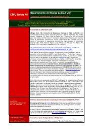 CMU News 64 - Departamento de Música - ECA/USP