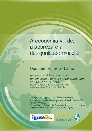 A economia verde, a pobreza e a desigualdade mundial