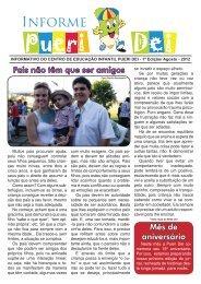Informativo AGOSTO 2012/01 - Centro de Educação Infantil Pueri Dei