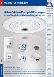 Mobotix Hi Res-Video-Komplettlösungen - Yello NetCom GmbH