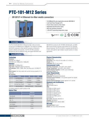 PTC-101-M12 Series