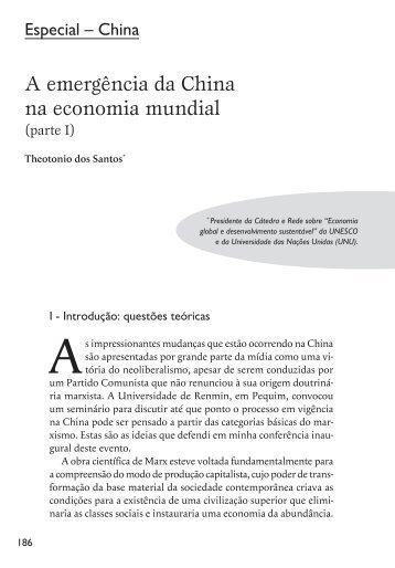 A emergência da China na economia mundial (parte - Cebela
