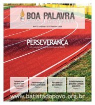 Fevereiro - Igreja Batista do Povo