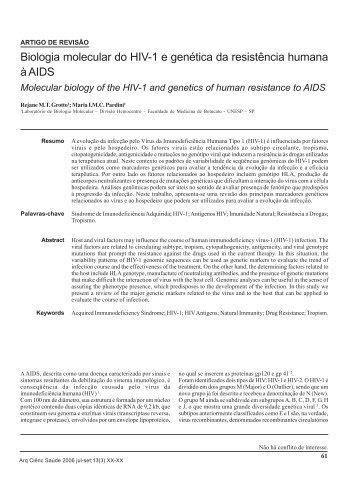 Biologia molecular do HIV-1 e genética da resistência humana à AIDS