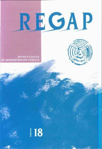 revista galega de administración pública • n.° 18 - Egap - Xunta de ...