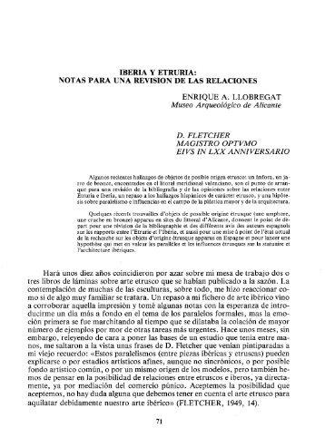 IBERIA Y ETRURIA: NOTAS PARA UNA REVISIÓN DE LAS ... - RUA
