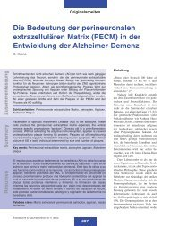 Die Bedeutung der perineuronalen extrazellulären Matrix (PECM