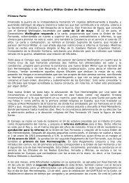 Historia de la Real y Militar Orden de San Hermenegildo - Reales y ...