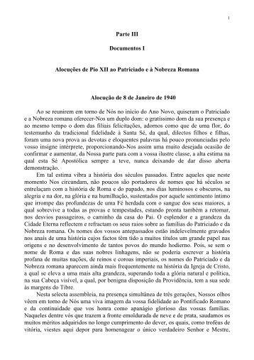 DOCUMENTOS V – A doutrina da Igreja sobre as - Plinio Corrêa De ...