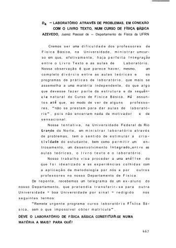 com o livro texto, num curso de fisica basica - Sociedade Brasileira ...