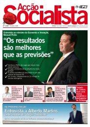 Entrevista - Acção Socialista