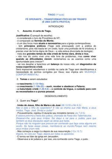 TIAGO (1ª aula) FÉ OPERANTE – TRANSFORMAR PROVAS EM ...
