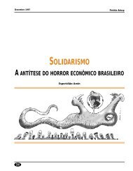 Solidarismo: a antítese do horror econômico brasileiro - Adusp