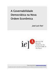 A Governabilidade Democrática na Nova Ordem Econômica